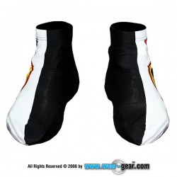 Jurassic Bike White Lycra shoe cover