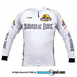 Jurassic Bike White long sleeve jersey