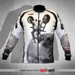 F*ck The Gravity White long sleeve jersey