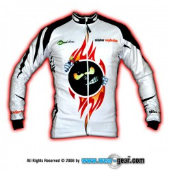 Mr Explosion White long sleeve jersey