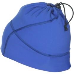 Czapka wiązana - komin niebieska