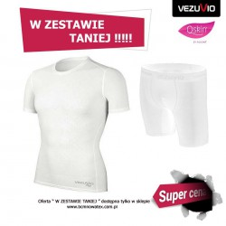 Men's set WHT short-sleeved shirt + Men's Boxer Shorts