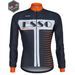 Long-sleeved jersey Vezuvio Esso Orange
