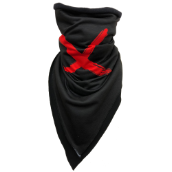 """X"" triangular balaclava"
